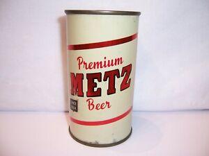 1950's Metz Premium Flat Top Beer Can Brewed in Omaha, NE  Bottom Opened