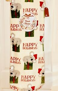 Cute Koala Christmas Decor Cute Kawaii Throw Plush Blanket 50x70NWT