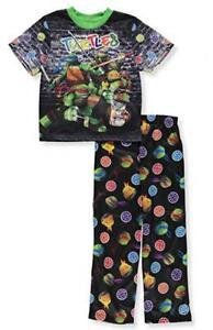 Teenage Mutant Ninja Turtles Boys 2-Piece Pajama Pant Set Size 4 6 8 10 $36