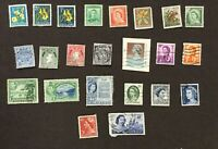 LOT OF 23 NEW ZEALAND IRELAND HONG KONG AUSTRALIA POSTAGE STAMPS COLLECTED 1960S