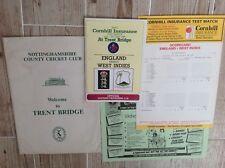 Trent Bridge,Cricket Memorabilia Pack,1988,Programme, Poster,Scorecard Etc