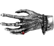 Nosferatu's Hand Vampire Skeleton Gothic Pewter Belt Buckle B24 Alchemy Red Ring