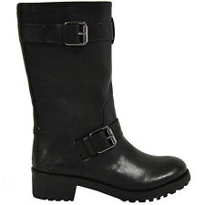 Tory Burch military boots stivali militari tg 37 uk 4 black neri