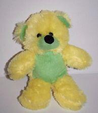 "EEC Int'l TEDDY BEAR 9"" Yellow Lime Green Plush Soft Toy Stuffed Animal Lovey"