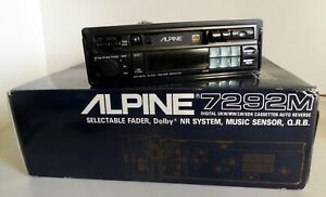 ///Alpine 7292M Old School Retro Tape Pullout FM/AM Car Radio + Optional BT