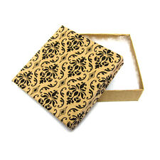 "50 Damask Cotton Filled Jewelry Gift Boxes 3 1/2"" X 3 1/2"" X 1"""