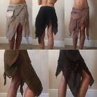 Hippy, boho, pixie, psy trance, goa, pocket belt skirt fairtrade