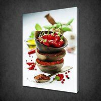 A Photograph Of Shiny Green Peppers HAF086 Art Print A4 A3 A2 A1