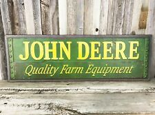 """John Deere Quality Farm Large 30"""" Metal Tin Sign Vintage Style Tractor Barn New"""