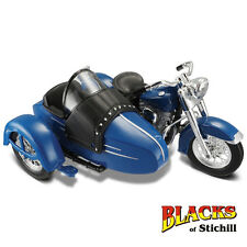 Maisto 1:18 Scale 1952 Harley Davidson FL Hydra Glide Motorcycle Side Car Model
