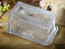 KATIE ALICE Cottage Flower VINTAGE STYLE GLASS BUTTER DISH