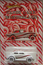 Hot Wheels CUSTOM VOLKSWAGEN BEETLE Candy Cane Real Riders Holiday Edition!