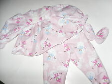 Snowman  Pajamas  Doll Clothes /free Slippers  fits 18 inch American Girl Doll
