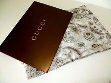 "NEW GUCCI  White Paisley Print Modal Silk Shawl ..56"" x 100"" $695"