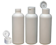 More details for 100 ml hdpe white bottle 20/410 with flip top caps, screw on caps - 10, 50, 100