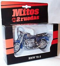BMW 75-5 In Blue and silver colour New in Box 1-18 scale motorbike