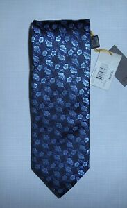 Canali 410 Blue Floral 100% Silk Tie New With Tags Made In Italy Size 1