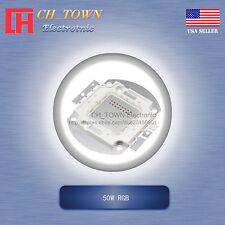 1Pcs 50W Watt High Power 4Pin RGB Tri-Color Common Anode SMD LED Blub Lamp Chip