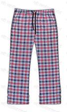 Mens Checked Woven Lounge Pants Pyjama Bottoms Pj's Pyjamas Sleepwear Cotton Mix Dark Grey Small