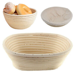 Bread Proofing Basket Banneton Brotform Dough rattan bread basket round oval set