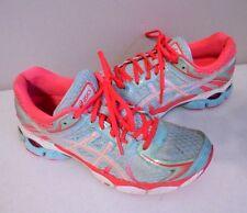 Women's ASICS GEL-FLUX Running Athletic Shoes T3D9N SIZE 8 Aqua Coral
