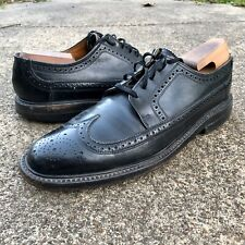 """Florsheim Wingtip Original Shoes 8 D Black Leather """"Vintage"""" Used"""