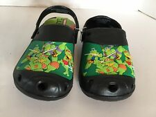 Nickelodeon Ninja Turtles Little Kids Medium 13/1 Green Clogs Slip On Shoes NWT
