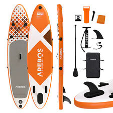 AREBOS Stand Up Paddle SUP Board Paddling Double Layer aufblasbar + Paddel 300cm