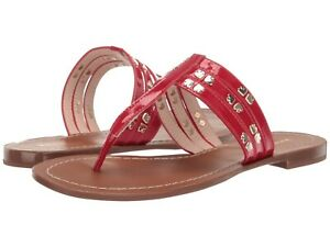 Kate Spade New York Carol Sandal Ripe Cherry Red Patent Leather Thong Size 10
