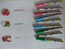 9 PAPERMATE SCENTED PENS - 3 COCONUT, 3 RASPBERRYand 3 APPLE COLOURED INKS