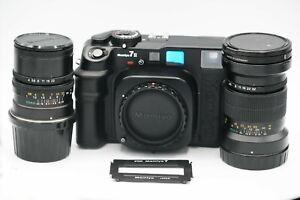 Mamiya 7 II Medium Format Rangefinder Camera - Black with 150mm ƒ/4.5 & 65mm ƒ/4