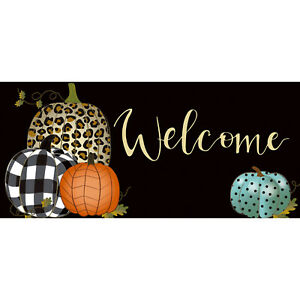 Sassafras Insert Switch Mat Mixed Print Pumpkins Welcome Mat
