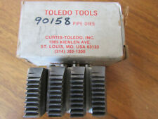 """Toledo Tools 1""""- 1-1/4"""" Npt Pipe Dies Model A Duo #90158 New Old Stock"""