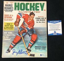 Jean Beliveau Signed Montreal Canadiens Hockey Illustrated Magazine Beckett COA