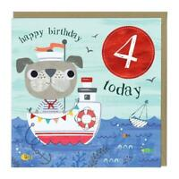 Chidrens 4th Birthday Eco Card Whistlefish Mix Any Cards For Discount