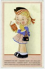 Vintage Postcard Imprime En Belgique French Postcard
