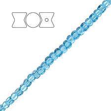 Preciosa czech pressed glass pellet perles aqua PK30 (D98/7)