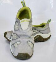 Merrell Jungle Moc Ventilator Womens Gray Suede Slip On Shoes Size 10