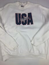 Vintage 1995 Los Angeles Dodgers White Crew Neck Sweatshirt Men's XL USA Made