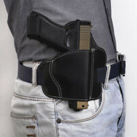 Tactical Universal OWB Leather 3 Slot Waist Belt Pistol Holster for GLOCK 17 19