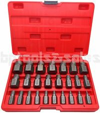 25Pcs Multi-Spline Screw Extractor Set Hex Head Bit Socket Wrench Bolt Remover
