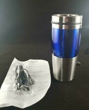 Blue Dual Powered Travel Mug USB and 12-volt DC- New in Box