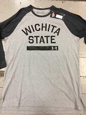 WICHITA STATE SHOCKERS, Men's 3/4 Sleeve Tee Shirt, Large, UNDER ARMOUR, NWT