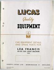 LUCAS LEA FRANCIS 18hp Electrics-Attrezzature Auto & pezzi di ricambio - 1950-ce719