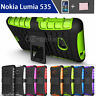 Case Cover For Nokia Lumia 535 Silicone Shockproof Heavy Duty With Kickstand