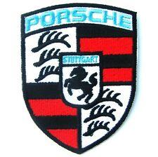 PORSCHE Advertising iron on Patch Blue Sky STUTTGART Germany Supercar Automobile