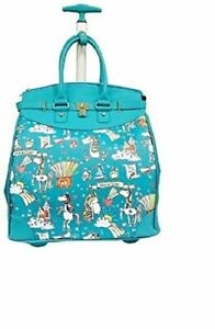 Unicorn Print Rolling 14-inch Laptop Travel Tote Bag Carryon Luggage New Rollies