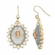 Juicy Couture Oval Drop Earrings NWT