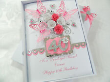 Handmade Personalised Birthday Card 16,18,21,30,40,50,60 Any Age Gift Box