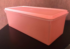 Tupperware Jumbo Bread Server / Storage Container Guava Watermelon Color New